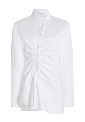 GEORGIA ALICE Universe Ruched Cut-Out Cotton Shirt