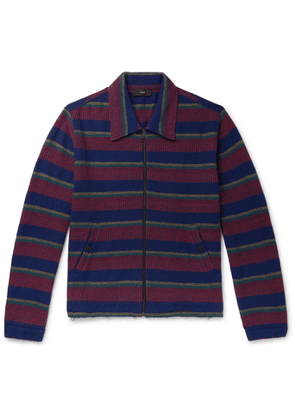 Alanui - Striped Knitted Cashmere and Cotton-Blend Jacket - Men - Blue
