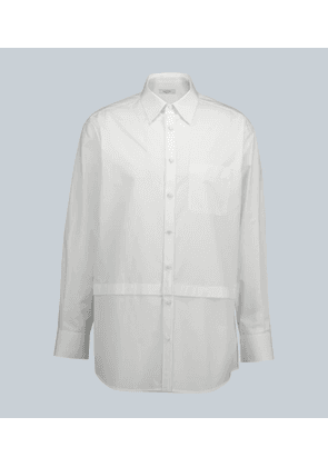 Valentino oversized cotton shirt with panels