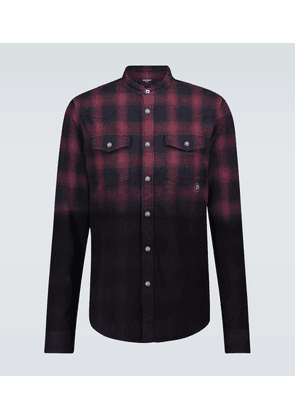 Cotton flannel checked shirt