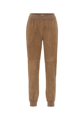 Suede trackpants