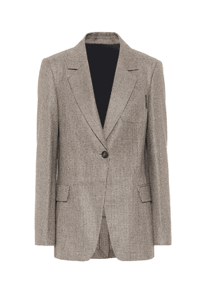 Houndstooth virgin wool blazer