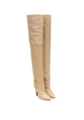 Lage leather over-the-knee boots