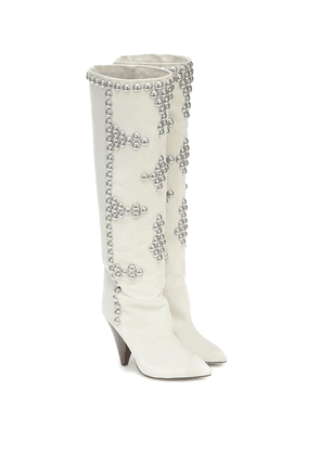 Lyork suede knee-high boots