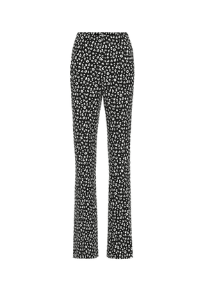 Printed jersey straight pants