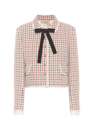 Checked virgin wool jacket