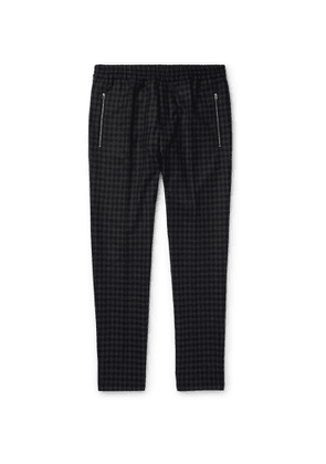 Stella McCartney - Piet Slim-Fit Tapered Checked Wool Trousers - Men - Gray