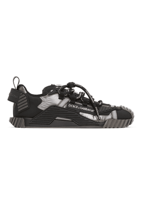 Dolce and Gabbana Silver and Black NS1 Sneakers