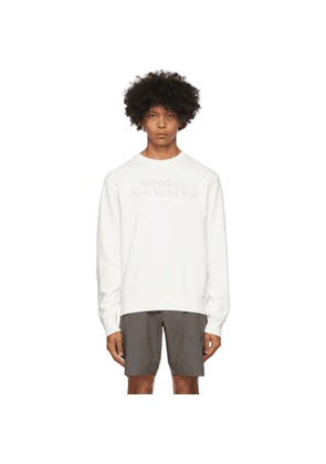 Saturdays NYC White Bowery Miller Crewneck Sweatshirt