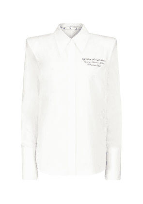 Popeline embroidered cotton shirt