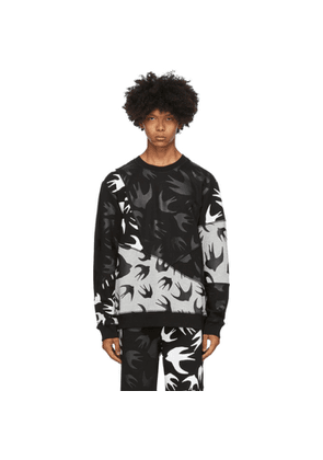 McQ Alexander McQueen Black and Grey McQ Swallow Sweatshirt