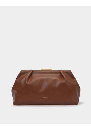 Clutch Maxi Florence In Brown Leather