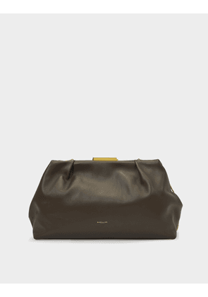 Clutch Maxi Florence In Khaki Leather