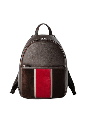 Espresso & Ruby Red Cachemire Leather Backpack
