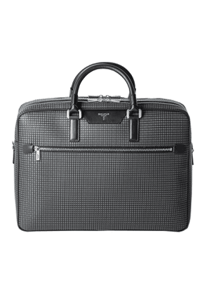 Grey Stepan & Black Gange Leather Double Gusset Briefcase