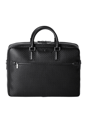 Black Stepan & Gange Leather Double Gusset Briefcase