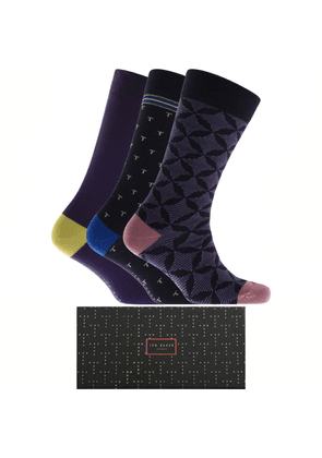 Ted Baker 3 Pack Socks Navy