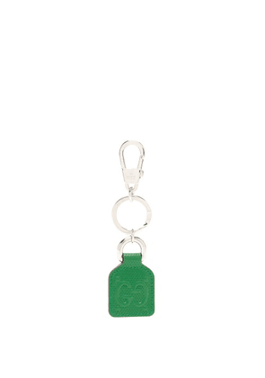 Gucci - GG-monogram Perforated-leather Key Ring - Mens - Green