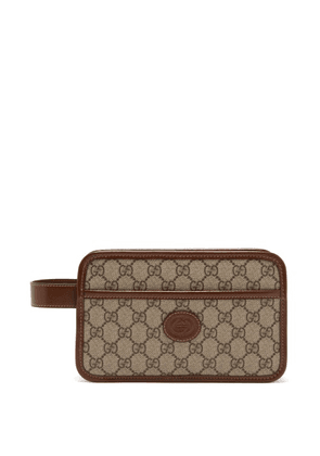 Gucci - GG Supreme Canvas Washbag - Mens - Beige Multi