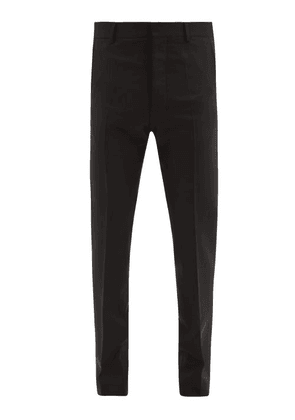 Ami - Slim-leg Virgin-wool Trousers - Mens - Black