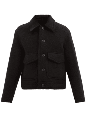 Ami - Brushed Virgin Wool Jacket - Mens - Black