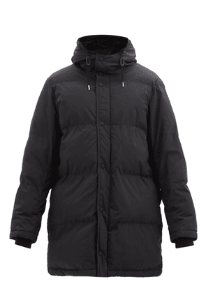 Ami - Hooded Technical-shell Padded Coat - Mens - Black