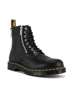 Dr. Martens 1460 Zip Nappa Boot in Black. Size 10.