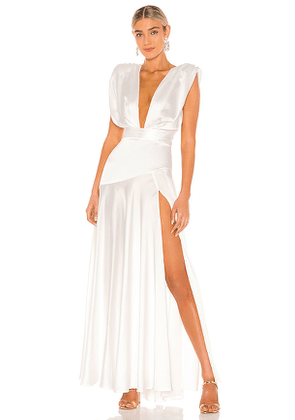 Bronx and Banco Romi Bridal Gown in White. Size L, M, S.