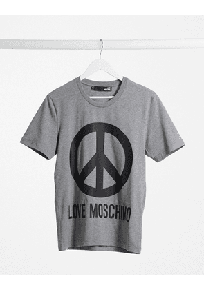 Love Moschino peace logo t-shirt-Grey