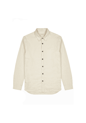 Oliver Spencer New York Special Cream Brushed Cotton Shirt
