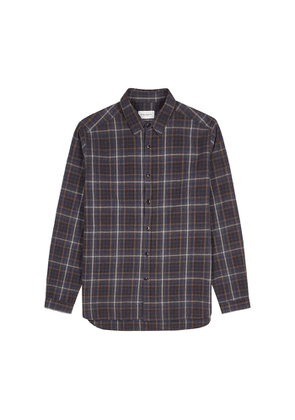 Oliver Spencer New York Special Checked Brushed Cotton Shirt