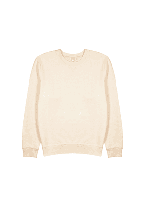 Sunspel Cream Cotton Sweatshirt