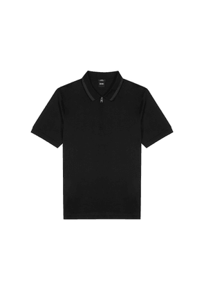 BOSS Polston Black Cotton Polo Shirt