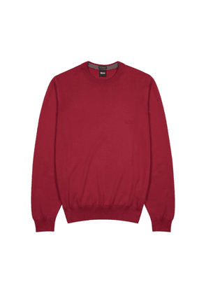 BOSS Pacas Dark Red Cotton Jumper