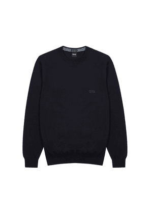 BOSS Pacas Navy Cotton Jumper