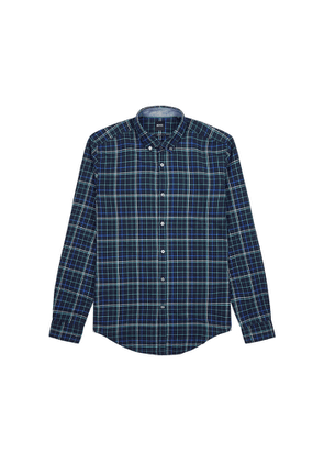 BOSS Rikard Checked Brushed Cotton Shirt