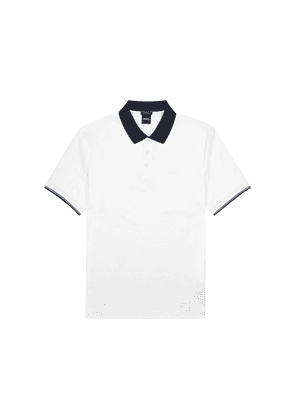 BOSS Parlay White Cotton-blend Polo Shirt