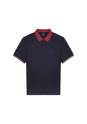 BOSS Parlay Navy Cotton-blend Polo Shirt