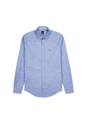 BOSS Rod Blue Stretch-cotton Shirt