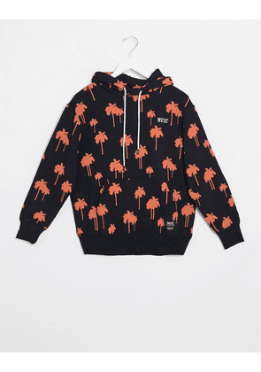 WESC 90s mike mini palms hoodie-Black