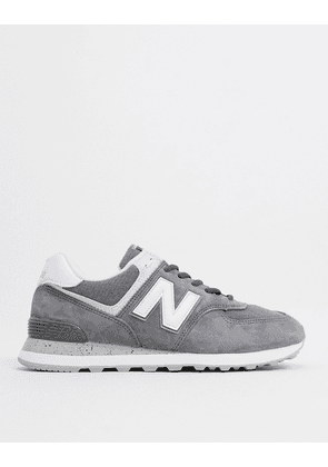 New Balance 574 trainers in tan suede