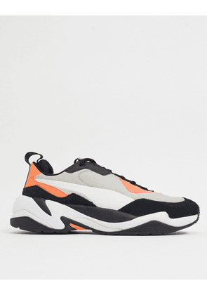 Puma Thunder trainers in beige and orange