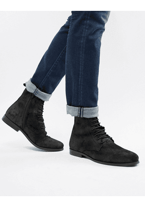 KG by Kurt Geiger Suede Lace Up Boots-Black
