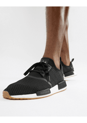 adidas Originals NMD trainers in black with gum sole
