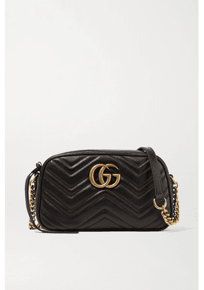 Gucci - Gg Marmont Camera Small Quilted Leather Shoulder Bag - Black