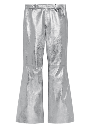 Gucci metallic flared trousers - Silver