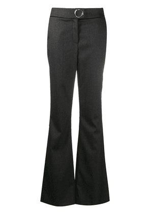 Cavalli Class metal-embellished flared trousers - Grey