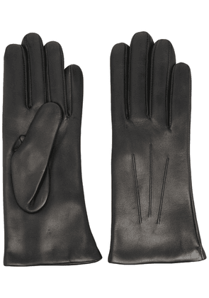 DENTS Isabelle cashmere-lined leather gloves - Black