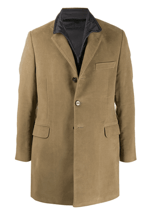 Fay tailored single-breasted coat - Brown
