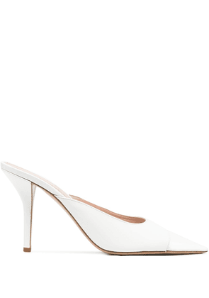 Gia Couture pointed toe 85mm mules - White